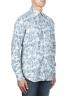 SBU 01822_19AW Chemise en velours côtelé blanc à motif floral 02