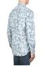 SBU 01822_19AW Camicia in velluto stampata fantasia in cotone bianca 04