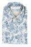 SBU 01822_19AW Camicia in velluto stampata fantasia in cotone bianca 06