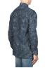 SBU 01823_19AW Camicia in velluto stampata fantasia in cotone blu 04