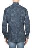 SBU 01823_19AW Camicia in velluto stampata fantasia in cotone blu 05
