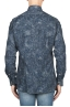 SBU 01823_19AW Floral patterned blue corduroy shirt 05
