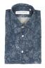 SBU 01823_19AW Camicia in velluto stampata fantasia in cotone blu 06