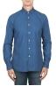 SBU 01824_19AW Camicia classica in cotone tinta con puro indaco blue 01