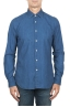 SBU 01824_19AW Pure indigo dyed classic blue cotton denim shirt 01