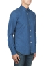 SBU 01824_19AW Pure indigo dyed classic blue cotton denim shirt 02