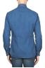SBU 01824_19AW Camicia classica in cotone tinta con puro indaco blue 05