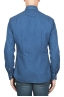 SBU 01824_19AW Pure indigo dyed classic blue cotton denim shirt 05