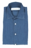 SBU 01824_19AW ピュアインディゴ染めのクラシックブルーコットンデニムシャツ 06