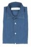 SBU 01824_19AW Camicia classica in cotone tinta con puro indaco blue 06