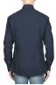SBU 01825_19AW Camicia classica in cotone tinta con indaco naturale blue 05