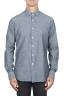 SBU 01826_19AW Chemise en jean en coton gris classique 01