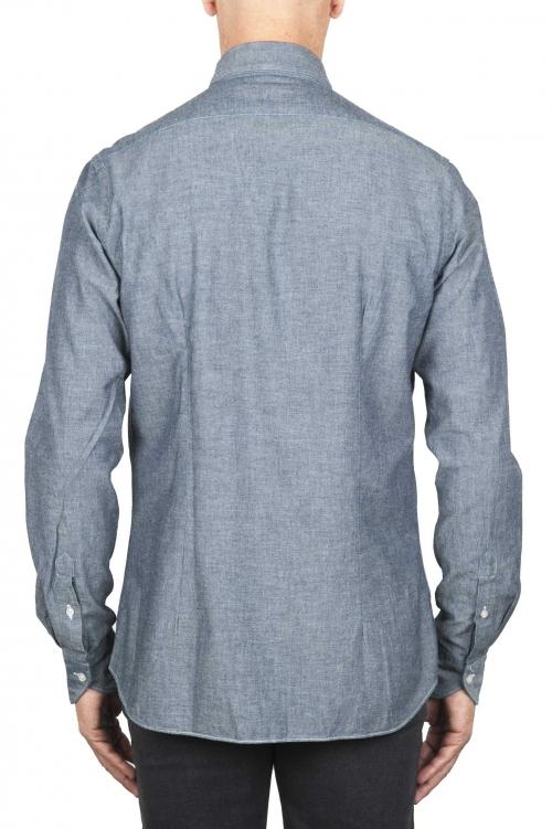 SBU 01826_19AW Classic grey cotton denim shirt 01