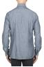 SBU 01826_19AW Camicia classica in denim di cotone grigio 05