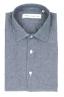 SBU 01826_19AW Camicia classica in denim di cotone grigio 06