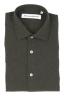 SBU 01827_19AW Camicia classica in flanella di cotone verde 06
