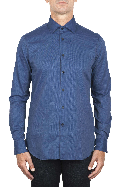 SBU 01828_19AW Chemise oxford en coton bleu classique 01