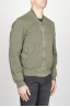 SBU - Strategic Business Unit - Classic Flight Jacket In Cotone Stone Washed Verde