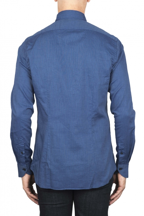 SBU 01828_19AW Classic blue cotton oxford shirt 01