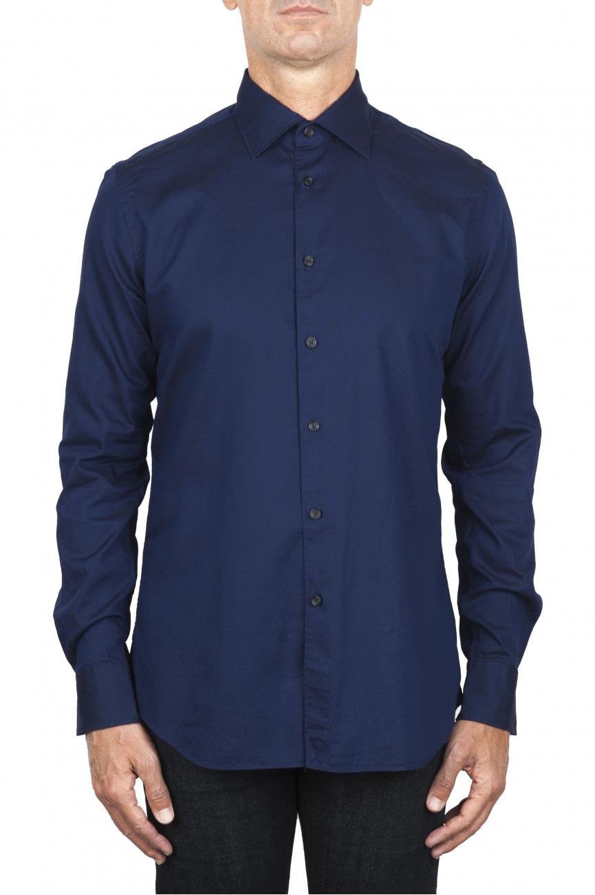SBU 01829_19AW Camicia classica in cotone oxford navy blue 01