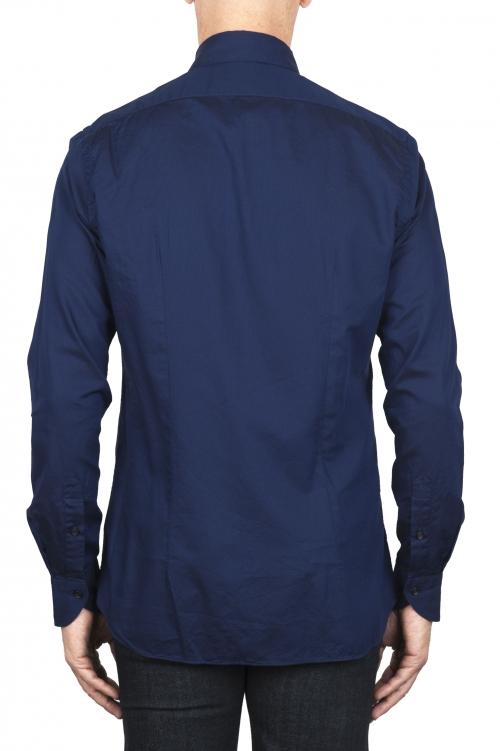 SBU 01829_19AW Chemise oxford en coton bleu marine classique 01