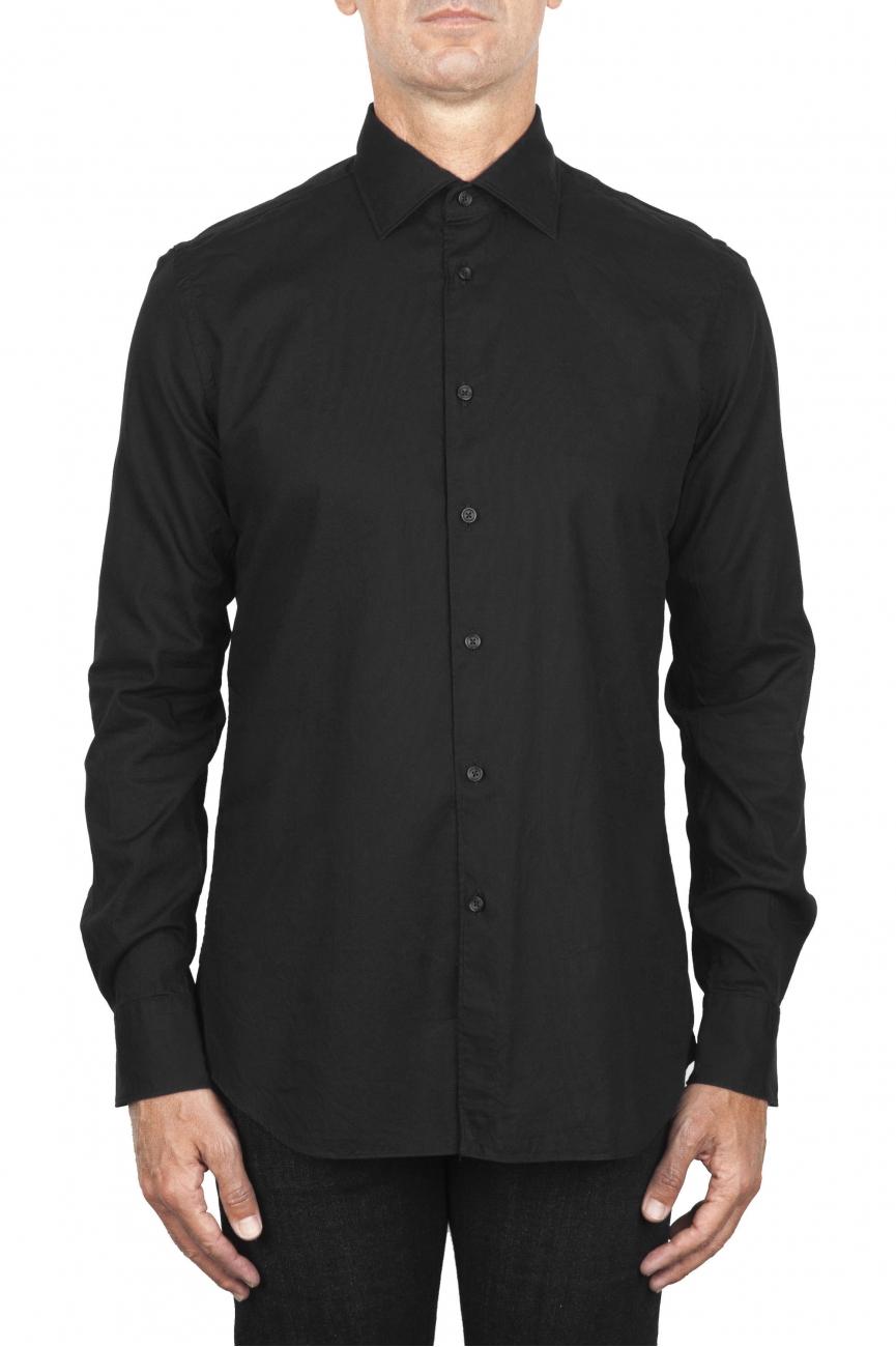 SBU 01831_19AW Classic black cotton oxford shirt 01