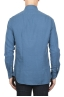 SBU 01832_19AW Camisa clásica de sarga de algodón azul 05