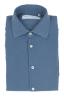 SBU 01832_19AW Camicia classica in twill di cotone blue 06