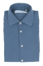 SBU 01832_19AW Camisa clásica de sarga de algodón azul 06