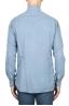 SBU 01833_19AW Camisa clásica de sarga de algodón azul claro 05