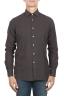 SBU 01834_19AW Camisa clásica de sarga de algodón marrón 01