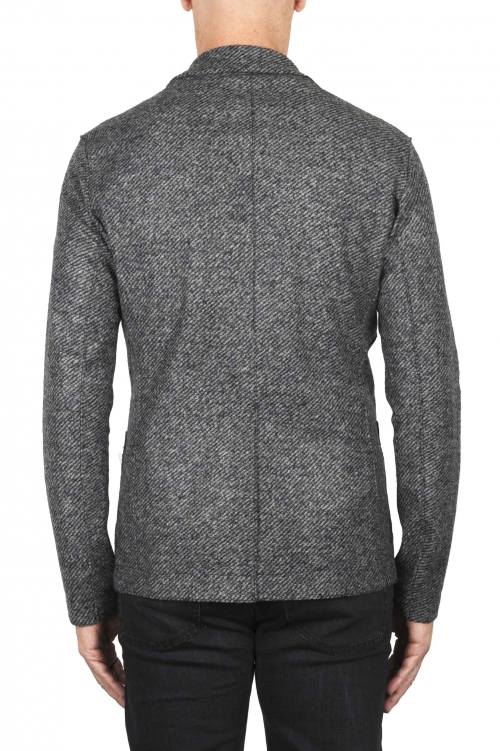 SBU 01836_19AW Grey wool blend sport blazer unconstructed and unlined 01
