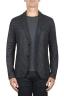 SBU 01837_19AW Veste de sport en laine mélangée noir déstructurés et sans doublure 01