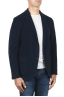 SBU 01838_19AW Navy blue wool blend sport blazer unconstructed and unlined 02