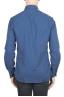 SBU 01308_19AW Plain soft cotton indigo flannel shirt 05