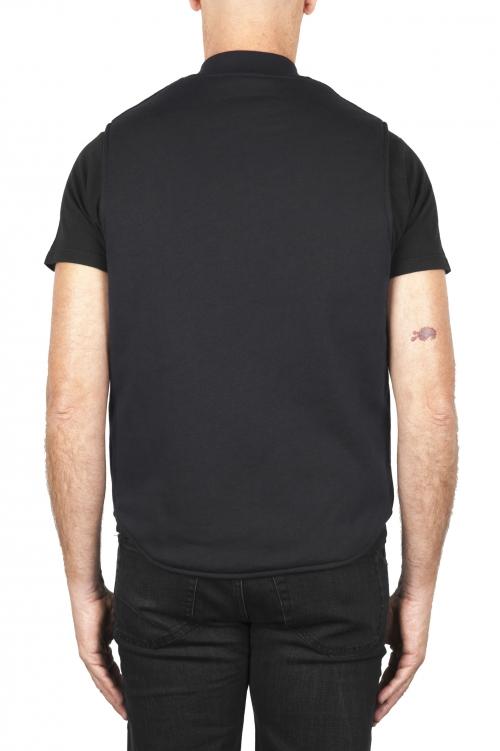 SBU 01843_19AW Chaleco acolchado en mezcla de algodón negro 01