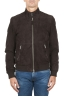 SBU 01845_19AW Padded brown leather bomber jacket 01
