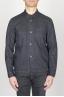 SBU - Strategic Business Unit - 綿とリネンを混紡したストーンブルーのワークジャケット