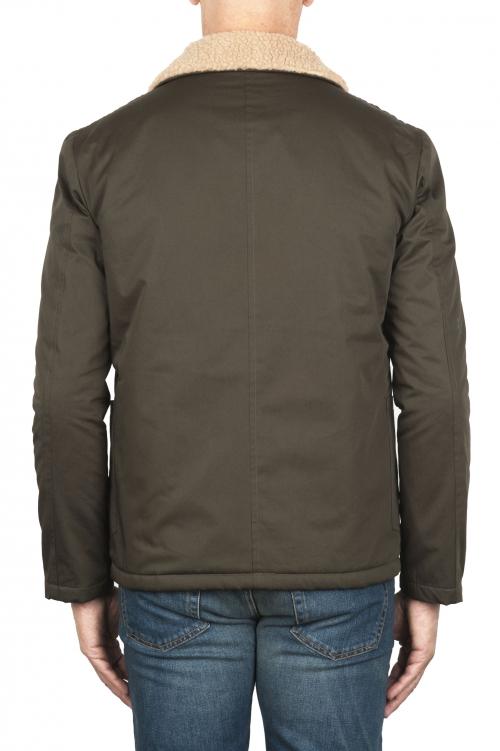 SBU 01849_19AW エコロジカルファー付きのパッド入りグリーンワークジャケット 01