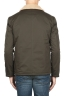 SBU 01849_19AW Padded green work jacket with ecological fur 05