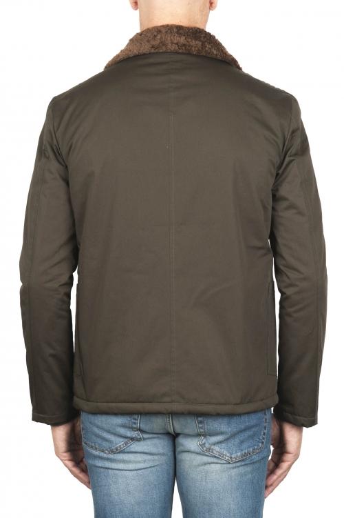 SBU 01850_19AW エコロジカルファー付きのパッド入りグリーンワークジャケット 01