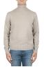 SBU 01854_19AW Maglia collo alto in lana misto cashmere beige 01