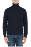 SBU 01855_19AW Blue roll-neck sweater in wool cashmere blend 01