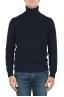 SBU 01855_19AW Maglia collo alto in lana misto cashmere blu 01