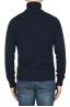 SBU 01855_19AW Maglia collo alto in lana misto cashmere blu 05