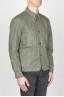 SBU - Strategic Business Unit - 綿とリネンを混紡した緑色の職人用ジャケット