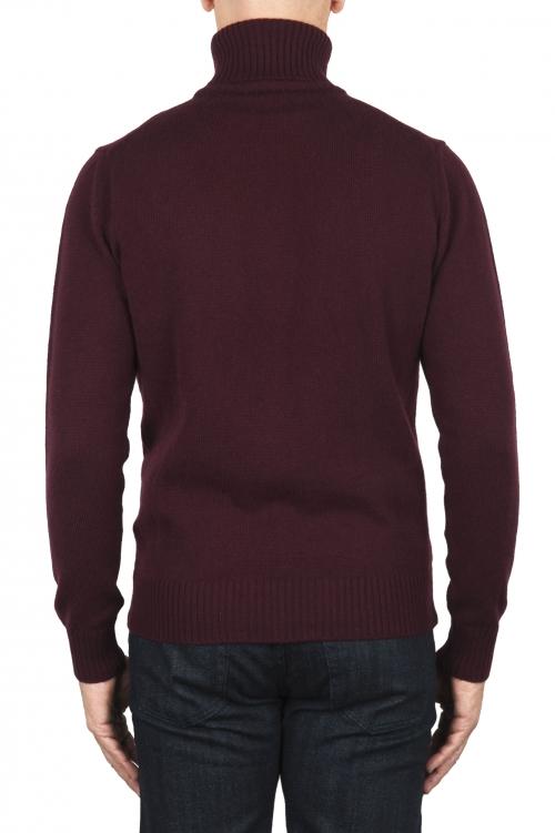 SBU 01858_19AW Jersey con cuello vuelto burdeos en mezcla de lana y cachemir 01
