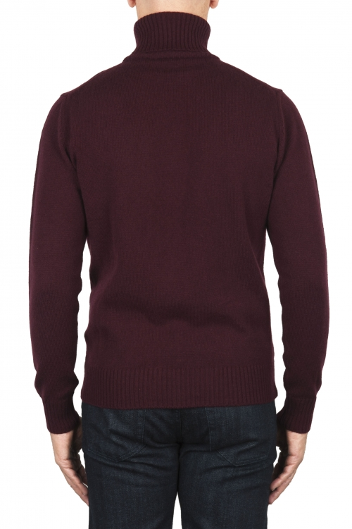 SBU 01858_19AW Red roll-neck sweater in wool cashmere blend 01