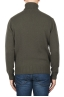 SBU 01859_19AW Green roll-neck sweater in wool cashmere blend 05