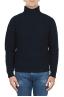 SBU 01860_19AW 純粋なウールの漁師のrib骨の青いタートルネックセーター 01